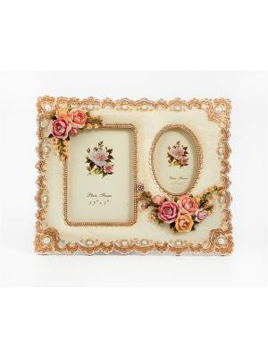 Фоторамка для 2 фото Русские подарки. Цвет: розовый, кремовый, персиковый
