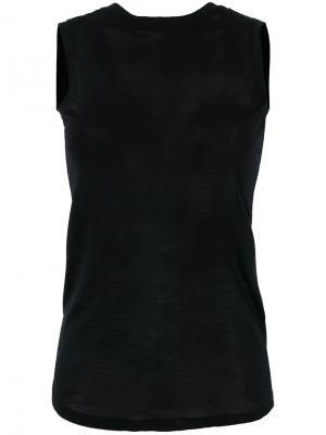 Топ без рукавов с завязкой на спине Federica Tosi. Цвет: чёрный
