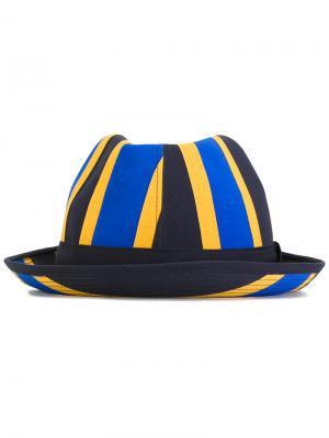 Шляпа в полоску Comme Des Garçons Shirt. Цвет: синий