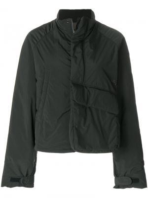 Дутая куртка с большими карманами Y-3. Цвет: зелёный