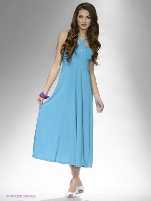 Платье DRS Deerose. Цвет: голубой