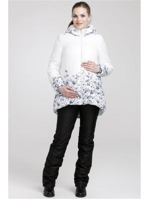 Куртка Modress. Цвет: светло-серый, белый