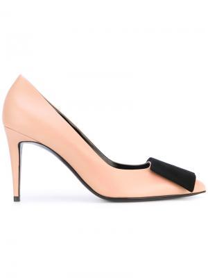 Туфли с замшевым бантом Pierre Hardy. Цвет: телесный