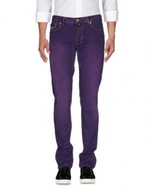 Джинсовые брюки PT05. Цвет: розовато-лиловый