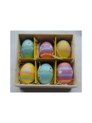 Декоративное подвесное пасхальное яйцо РОЗОВО-ГОЛУБОЙ Magic Home. Цвет: серо-голубой
