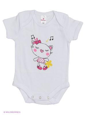 Пижама ясельная MP0101 01 цвет белый, кошечка Квирит. Цвет: белый