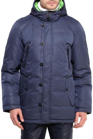 Пальто Finn Flare. Цвет: голубой