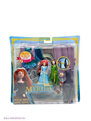Набор DeLuxe с мини-куклой Disney Принцесса - Мини-замок Мериды Mattel. Цвет: зеленый, голубой