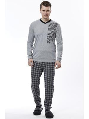 Пижама RELAX MODE. Цвет: серый, черный