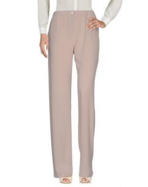 Повседневные брюки QL2 QUELLEDUE. Цвет: голубиный серый