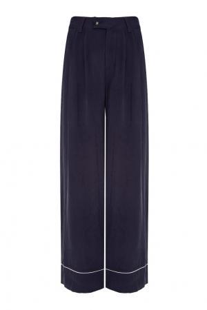 Однотонные брюки Odyle Essentiel. Цвет: синий