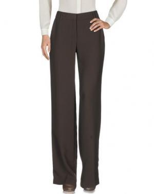 Повседневные брюки JO NO FUI. Цвет: темно-коричневый