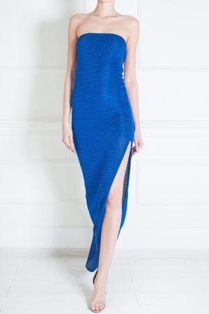 Платье из вискозы Jay Ahr. Цвет: индиго