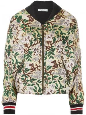 Куртка свободного кроя с жаккардовым эффектом Philosophy Di Lorenzo Serafini. Цвет: зелёный