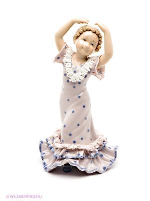 Фигурка Танцующая девочка Pavone. Цвет: бледно-розовый, синий