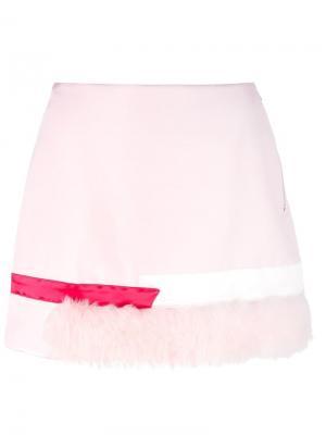 Юбка мини Caitlin Price. Цвет: розовый и фиолетовый