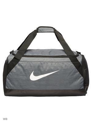 Сумки NK BRSLA M DUFF Nike. Цвет: серый, черный