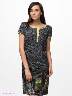 Платье S.OLIVER. Цвет: черный, зеленый