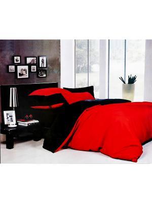 Комплект постельного белья 2-х сп Fashion La Pastel. Цвет: красный, черный