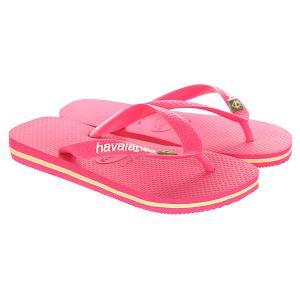 Вьетнамки  Brasil Logo Pink Havaianas. Цвет: розовый