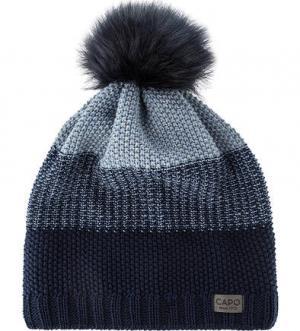 Синяя шапка фактурной вязки Capo. Цвет: синий