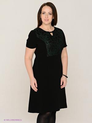 Платье MAFUERTA. Цвет: черный, зеленый