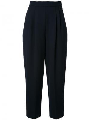 Укороченные брюки с завышенной талией Delpozo. Цвет: чёрный