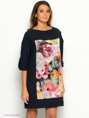 Платье La Via Estelar. Цвет: синий, розовый, кремовый