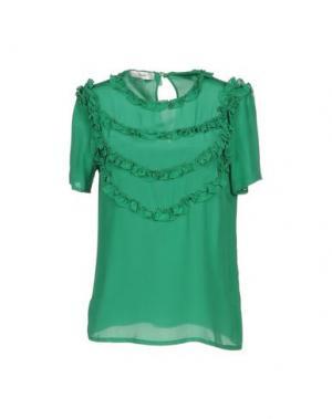 Блузка SUOLI. Цвет: зеленый