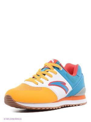 Кроссовки ANTA. Цвет: голубой, желтый, белый