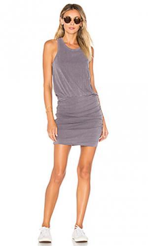 Платье из спандекса и шерсти без рукавов SUNDRY. Цвет: серый