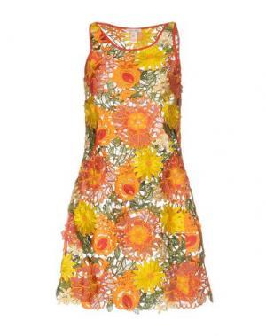 Короткое платье AGOGOA. Цвет: красный