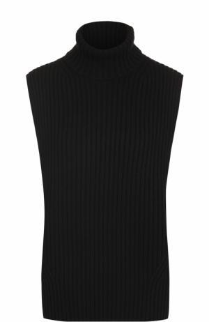 Свитер фактурной вязки без рукавов Dries Van Noten. Цвет: черный