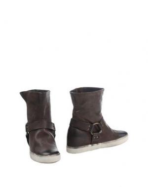 Полусапоги и высокие ботинки PAUSE. Цвет: темно-коричневый