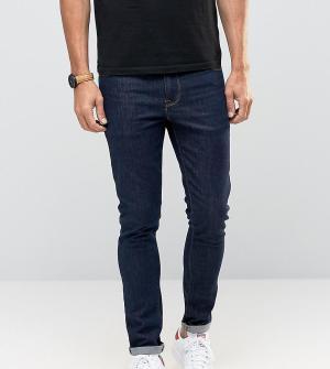 ASOS Супероблегающие джинсы цвета индиго TALL. Цвет: синий