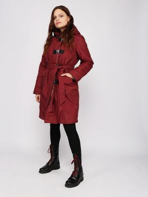 Пальто Frauland. Цвет: бордовый