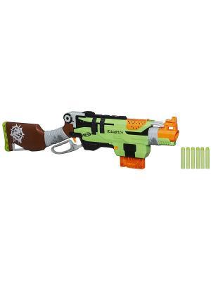 Бластер Зомби Страйк Слингфайр Hasbro. Цвет: синий, зеленый, красный, оранжевый, белый