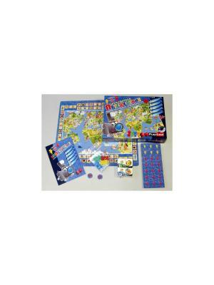 Настольная игра Кругосветное путешествие PLAY LAND. Цвет: бежевый, белый, бирюзовый, голубой, желтый, зеленый, золотистый, индиго, коралловый, коричневый, красный, кремовый, лазурный, лиловый, малиновый
