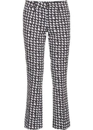 Расклешенные брюки длины 7/8 (цвет белой шерсти/черный с узором) bonprix. Цвет: цвет белой шерсти/черный с узором