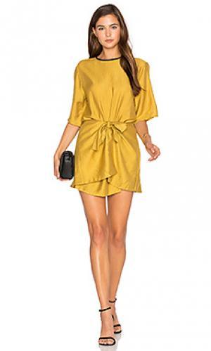 Мини платье с запахом abel PFEIFFER. Цвет: горчичный
