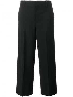 Укороченные широкие брюки Vince. Цвет: чёрный