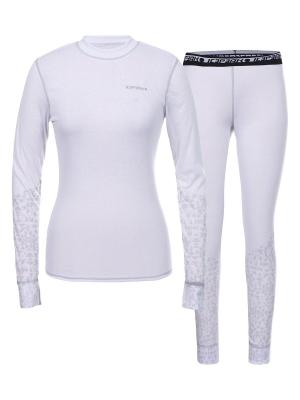 Комплект (нижние брюки и фуфайки) Icepeak. Цвет: белый