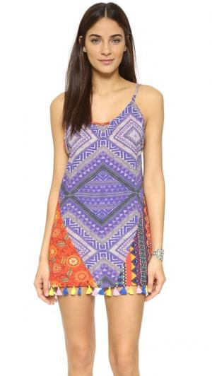 Короткое платье Bohomix Bindya. Цвет: мульти