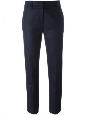 Укороченные брюки со стрелками Piazza Sempione. Цвет: синий