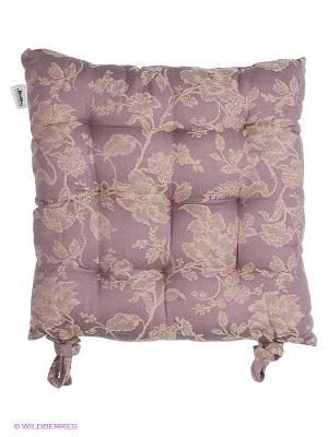 Подушка на стул ARLONI. Цвет: фиолетовый, бежевый
