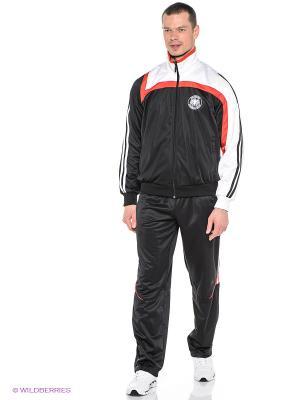 Спортивный костюм ADDIC. Цвет: черный, красный