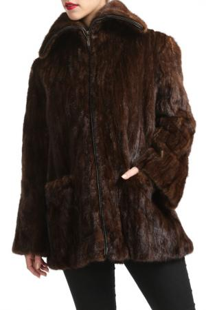 Шуба CKN of scandinavia. Цвет: коричневый