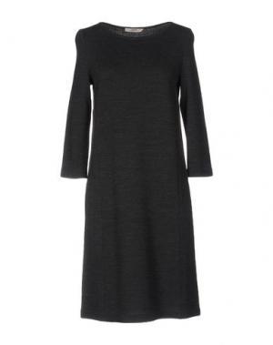 Короткое платье BARBON. Цвет: свинцово-серый