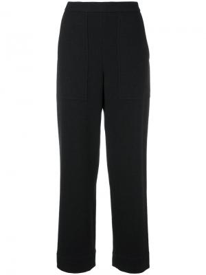 Прямые брюки Lemaire. Цвет: чёрный