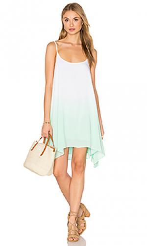 Платье с размытым рисунком Bishop + Young. Цвет: сине-зеленый